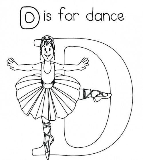 D For Dance Coloring Pages