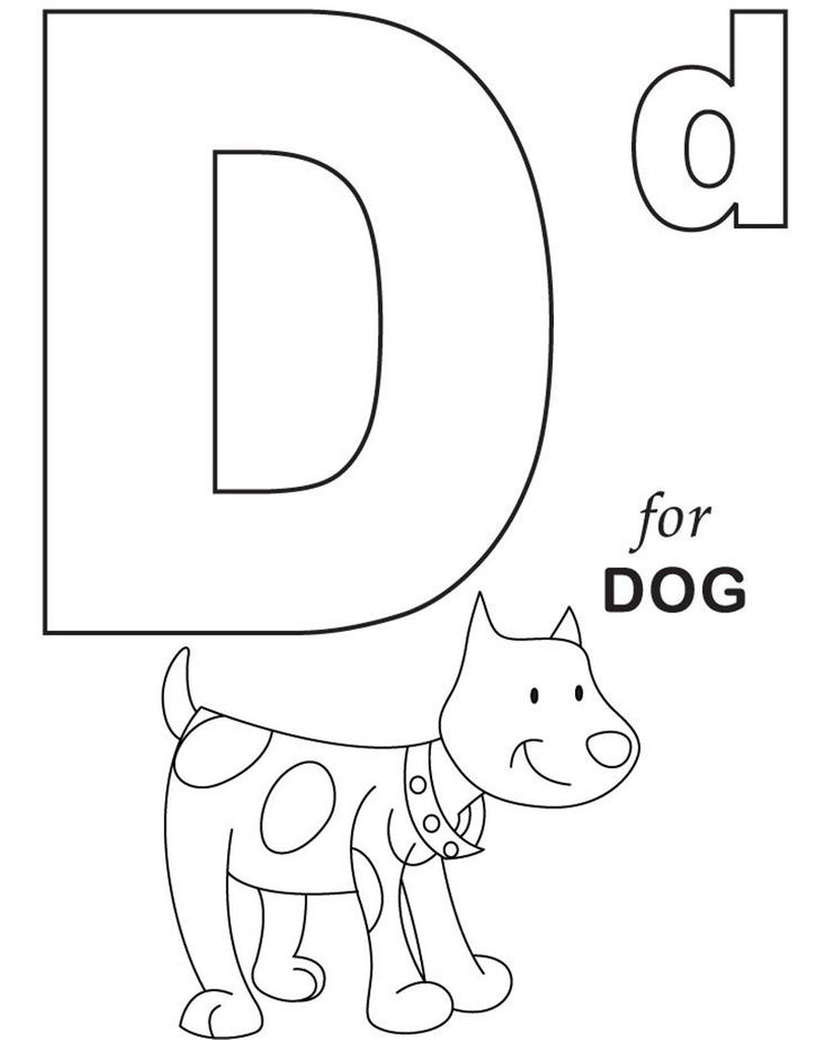 D For Dog Printable Alphabet Coloring Pages2