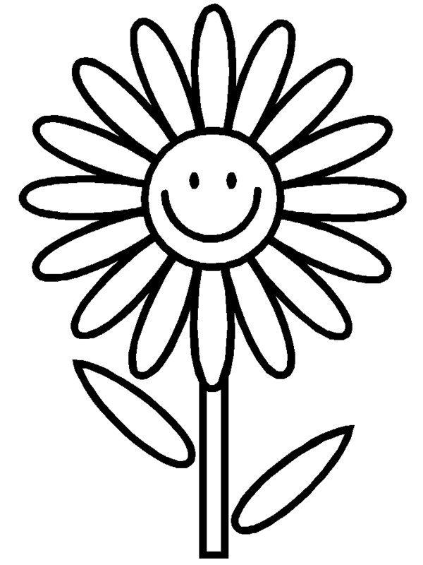Daisy Flower Coloring Pages For Kids