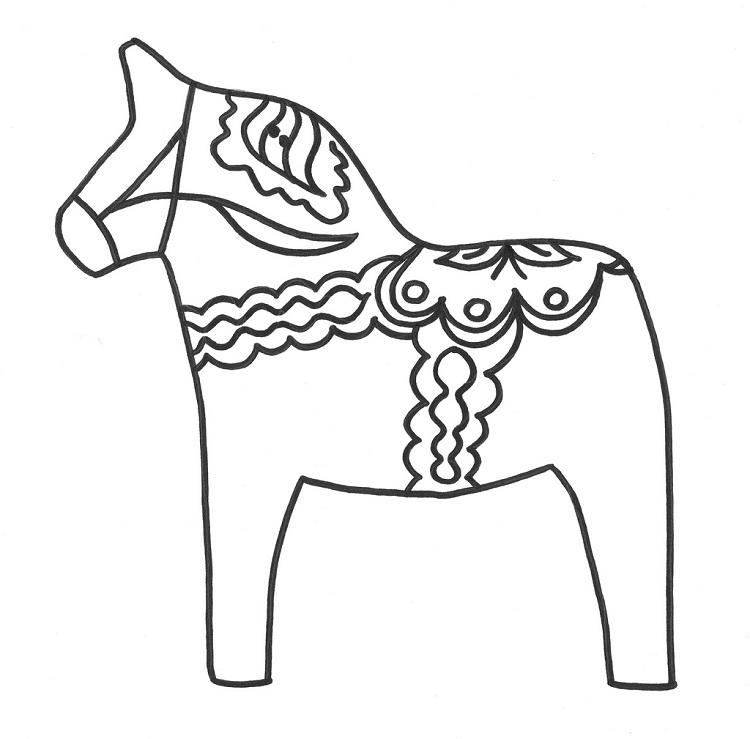 Dala Horse Coloring Pages
