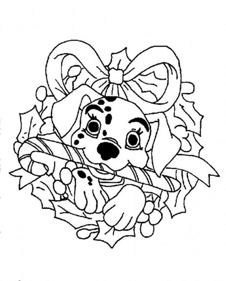 Dalmation Disney For Christmas Coloring Page