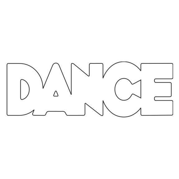 Dance Letters Coloring Pages