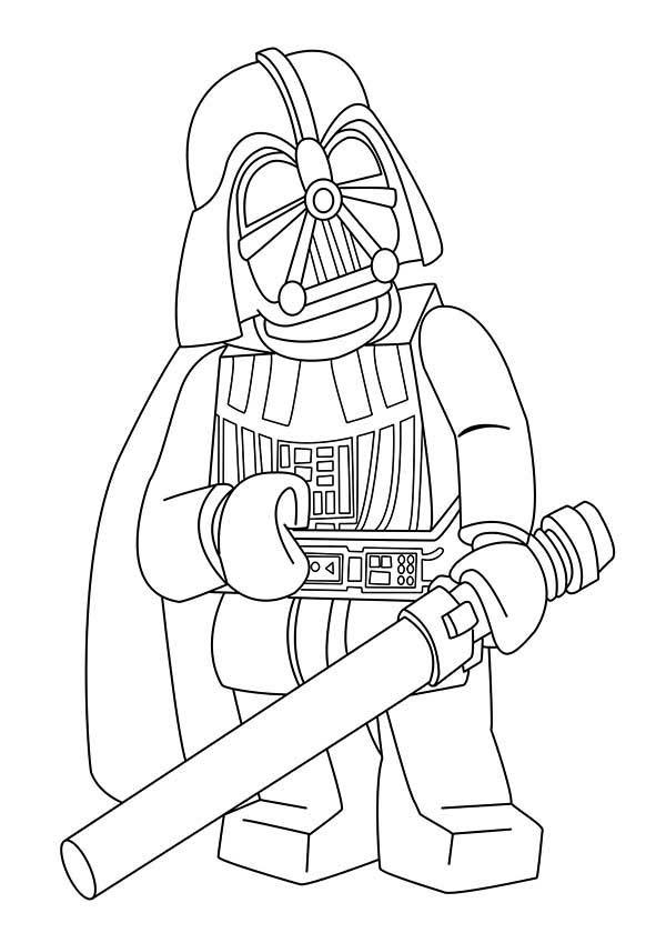 Darth Vader Coloring Pages Lego