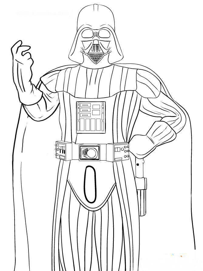 Darth Vader Coloring Pages Printable For Kids