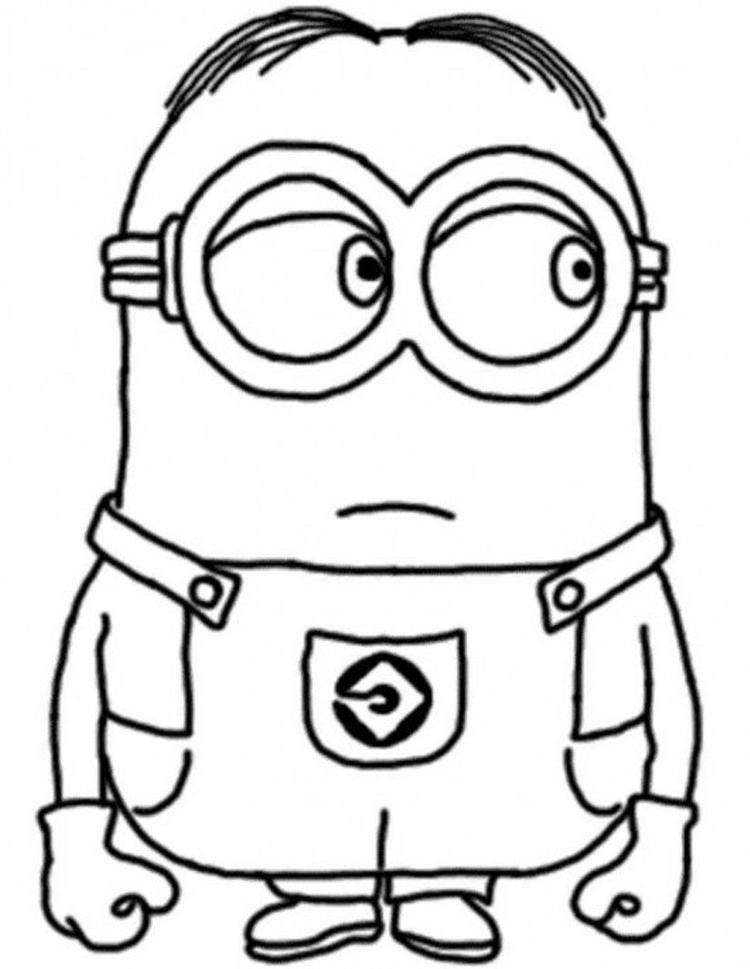 Dave The Minion Despicable Me Coloring Pages1