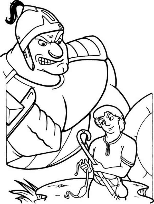 David And Goliath Coloring Pages Bible