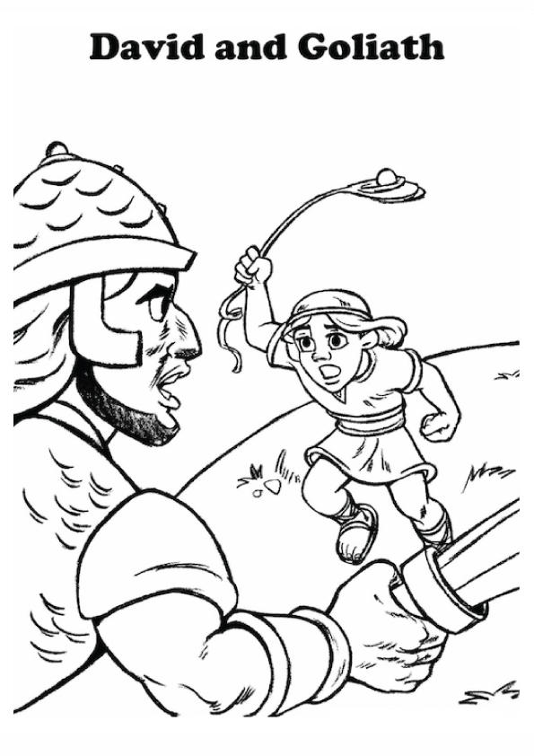 David And Goliath Coloring Pages For Kids