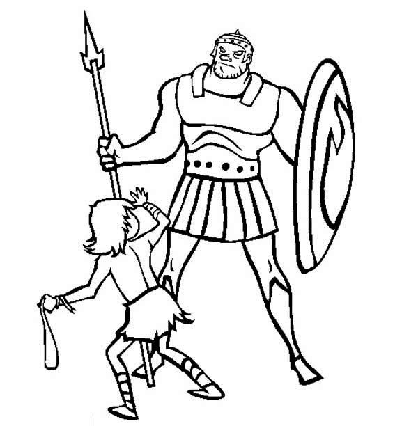 David And Goliath Coloring Pages Free To Print