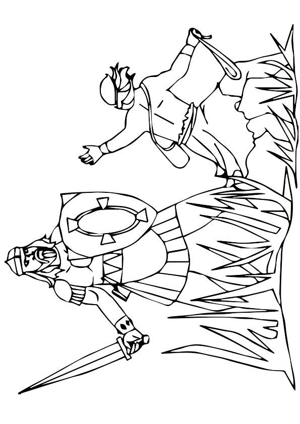 David And Goliath Coloring Pages Printable Free