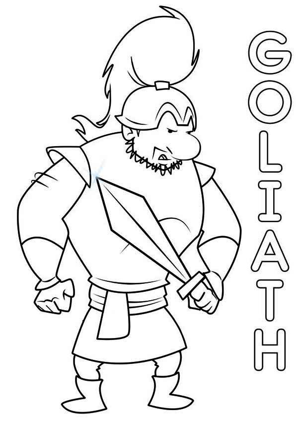 David And Goliath Coloring Pages The Goliath