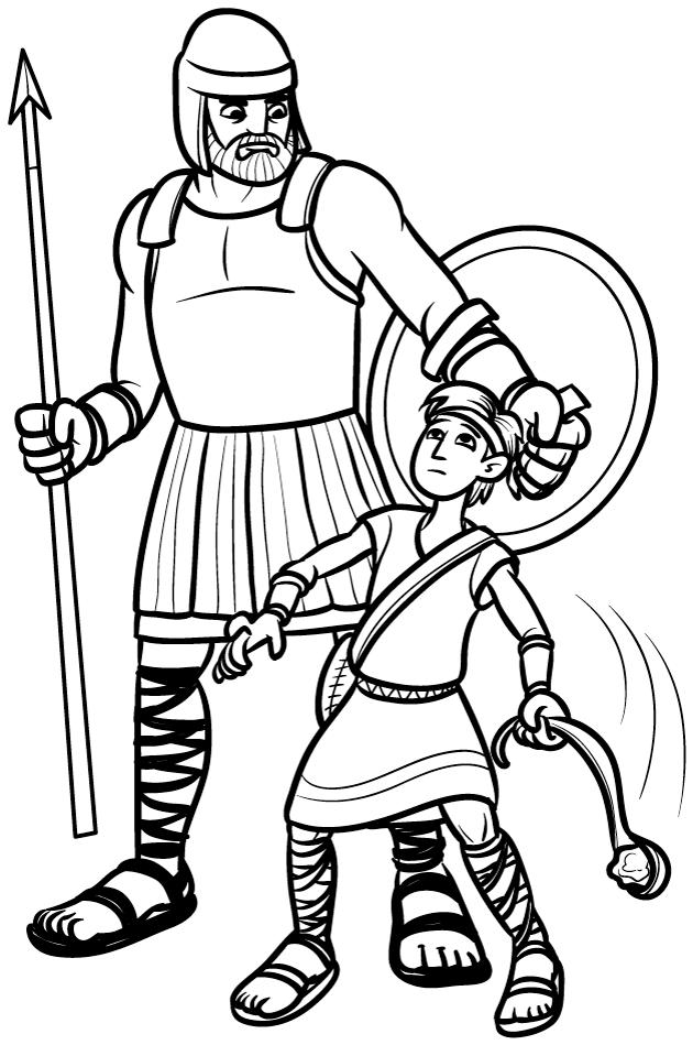 David And Goliath Coloring Picture Printable