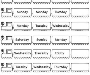 Days of the Week Kindergarten English Worksheets