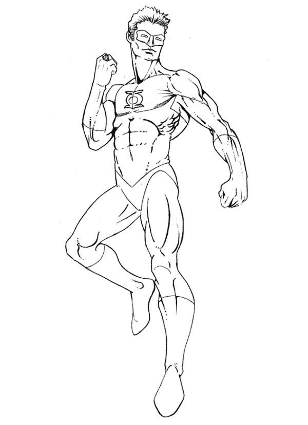 Dc Comics Green Lantern Coloring Pages