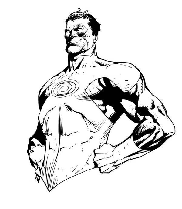 Dc Super Heroes Green Lantern Coloring Pages