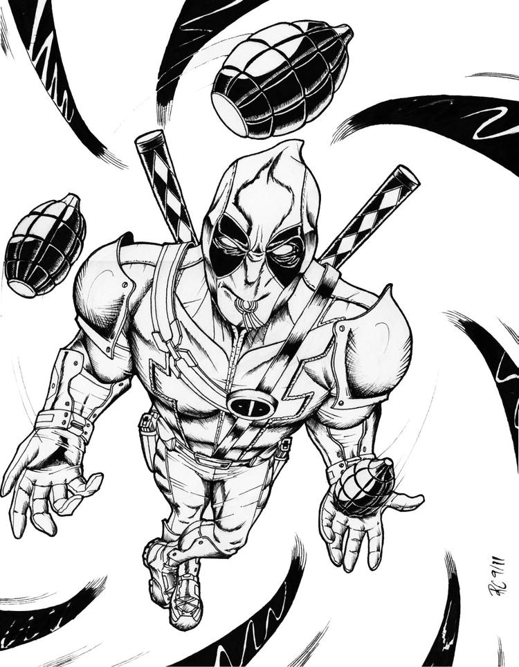 Deadpool And Wolverine Coloring Pages Free