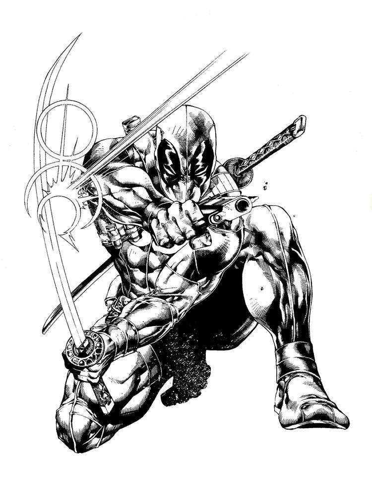 Deadpool And Wolverine Coloring Pages Printable