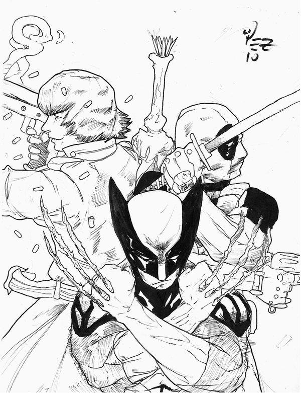 Deadpool And Wolverine Coloring Pages To Print