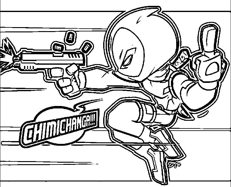 Deadpool Coloring Pages Middle Finger
