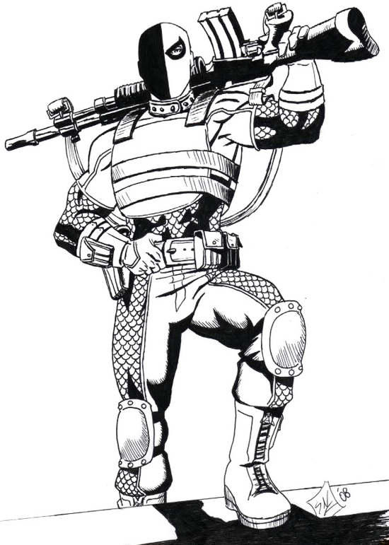 Deathstroke Coloring Page To Print