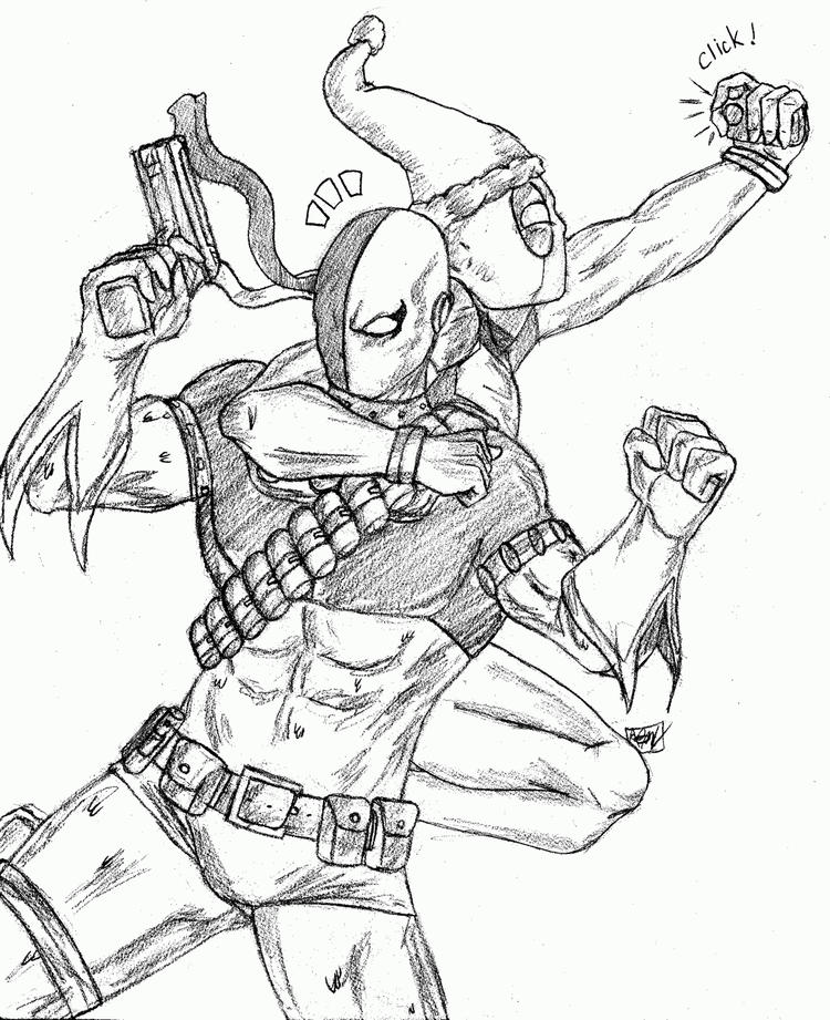Deathstroke Coloring Page American Comic Books