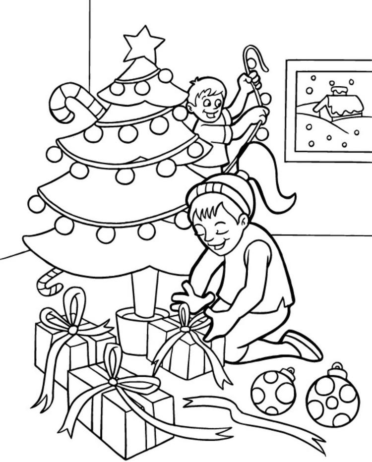 Decorate Coloring Pages For Christmas Kids