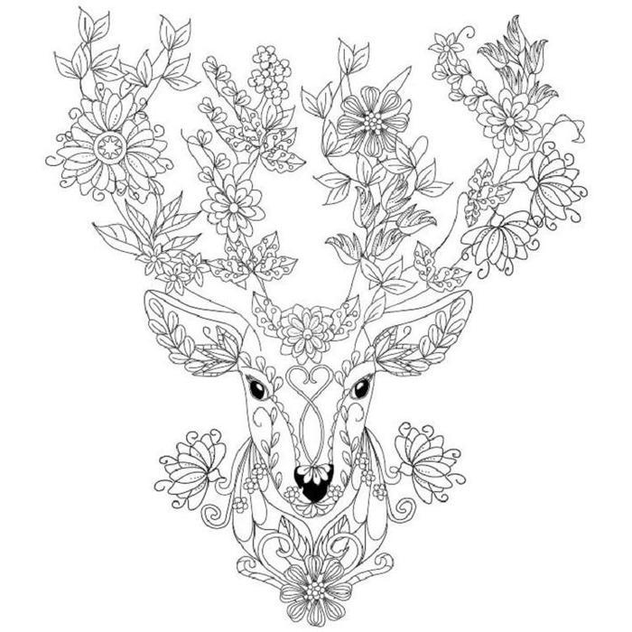 Deer Art Therapy Coloring Pages