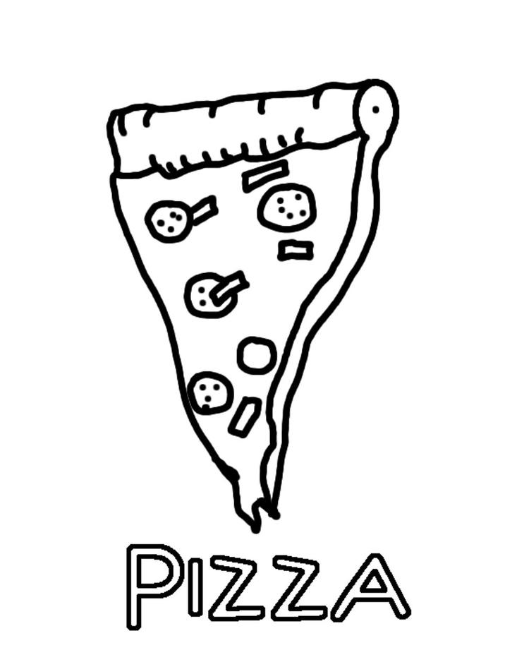 Delicious Pizza Coloring Pages Of Food