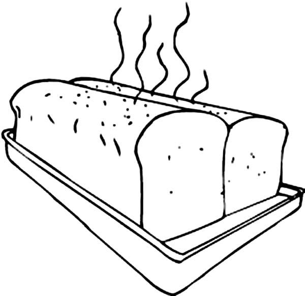 Delicous Warm Bread From Bakery Coloring Pages