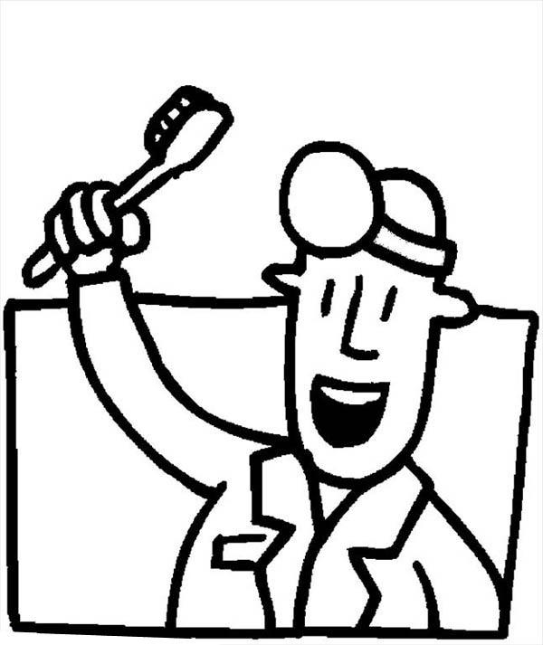 Dentist Bright Smile Coloring Pages