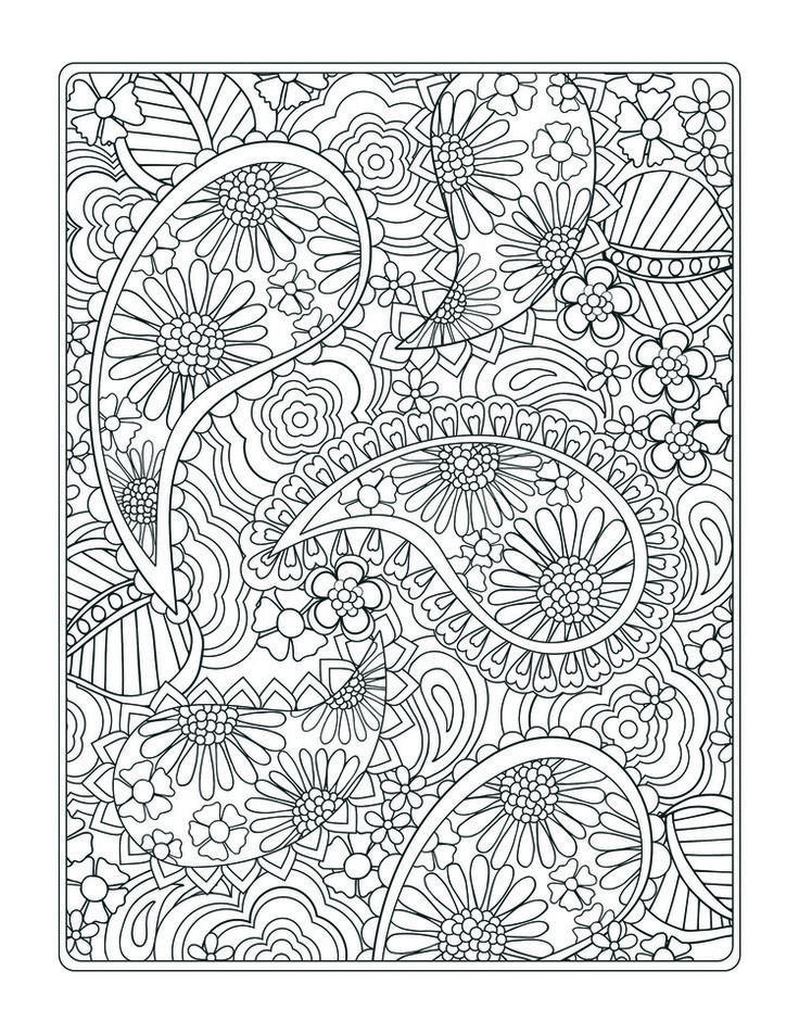 Design Coloring Pages Paisley