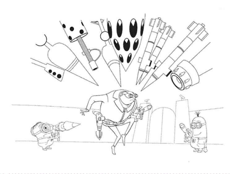 Despicable Me Coloring Book Pages