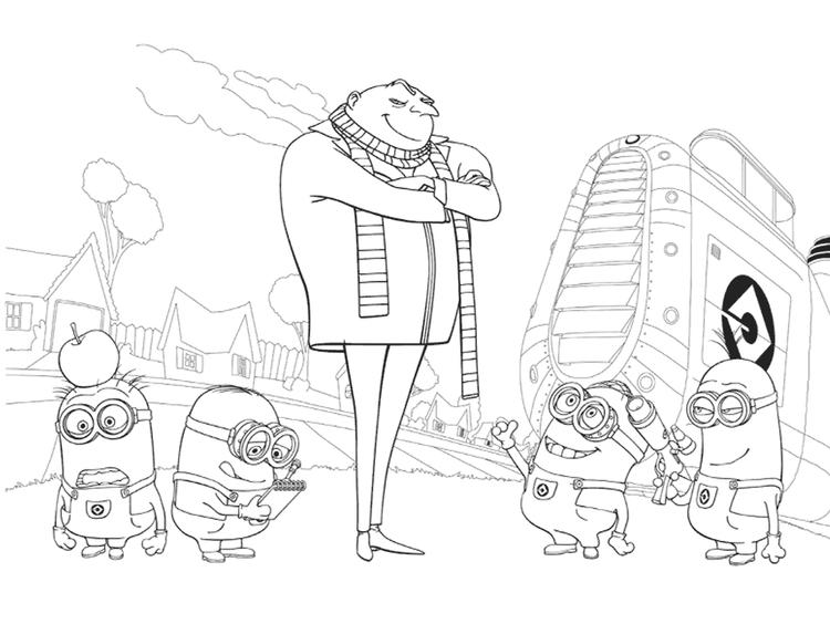Despicable Me Coloring In Pages