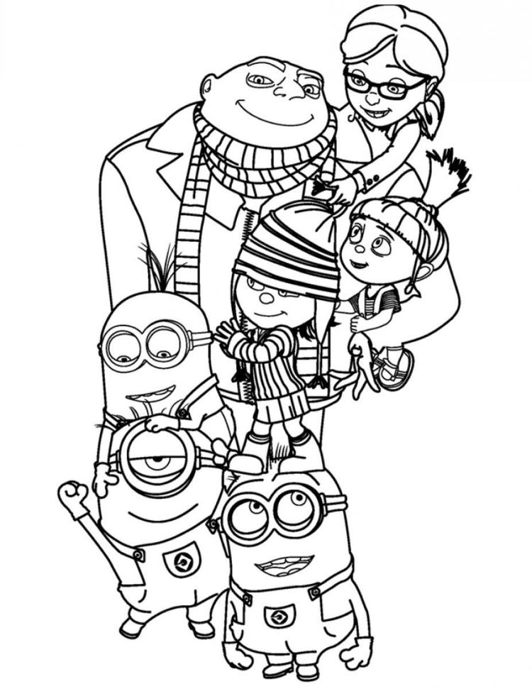 Despicable Me Coloring Pages All Characters