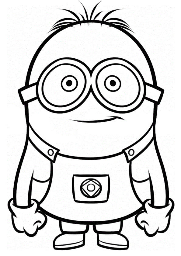 Despicable me coloring pages dave minion