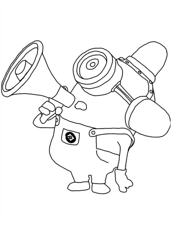 Despicable Me Coloring Pages Funny Minion