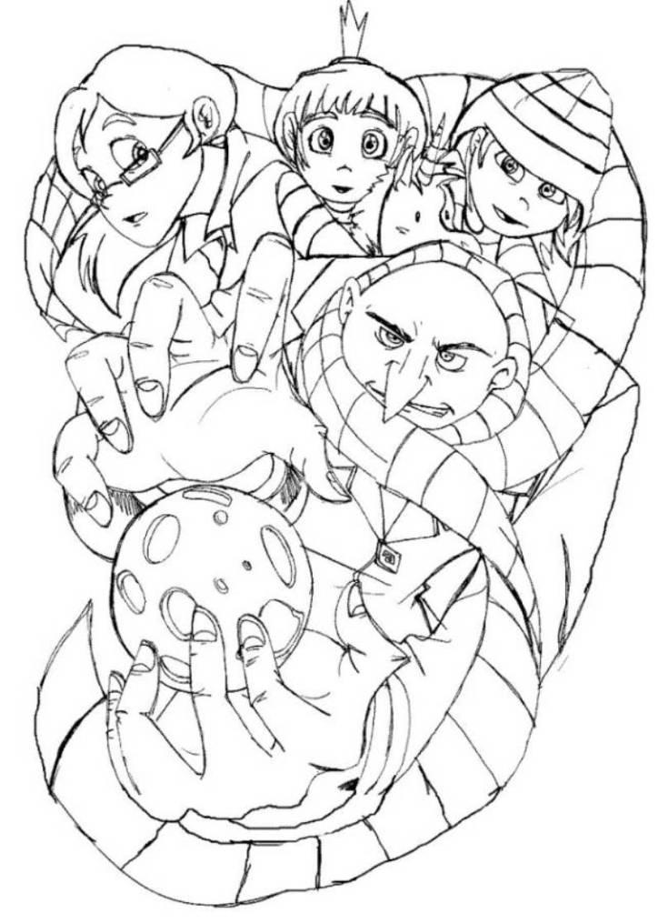 Despicable Me The Movie Coloring Pages