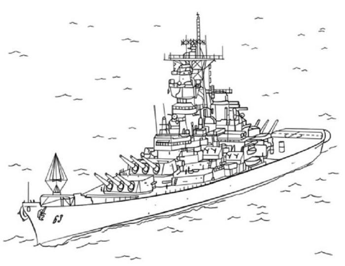 Destroyer Warship Coloring Pages