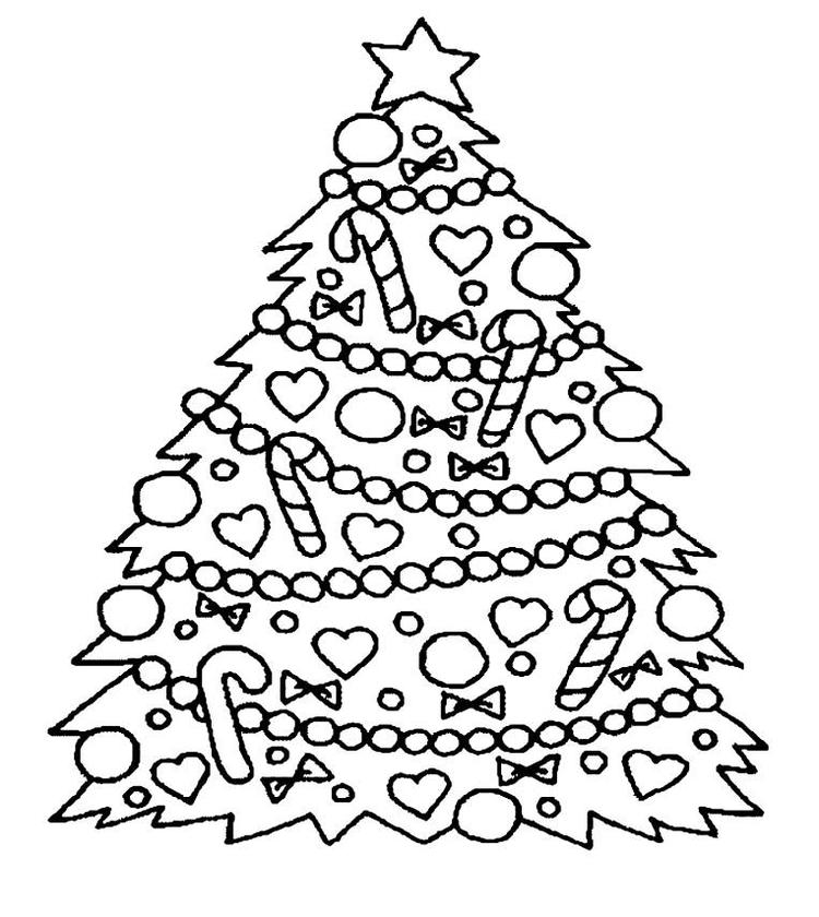 Detailed Christmas Tree Coloring Pages