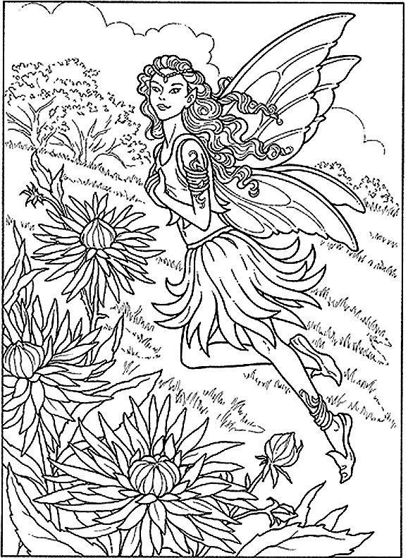 Detailed Coloring Pages Fairy