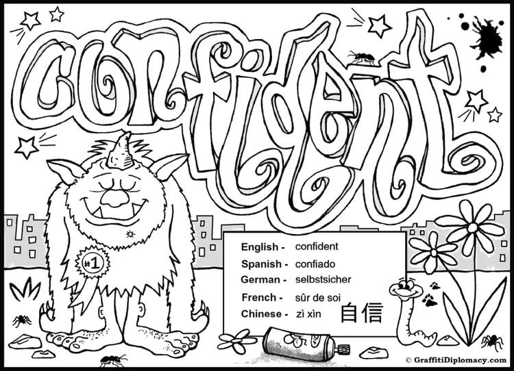 Detailed Coloring Pages For Teenagers Graffiti