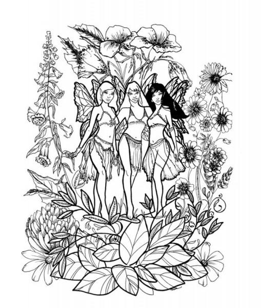Detailed Coloring Pages Of Fairies