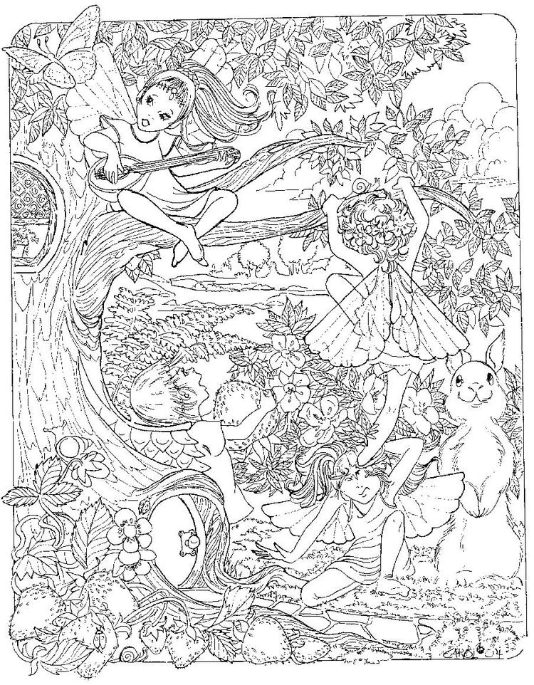 Detailed Coloring Pages Of Fairy World
