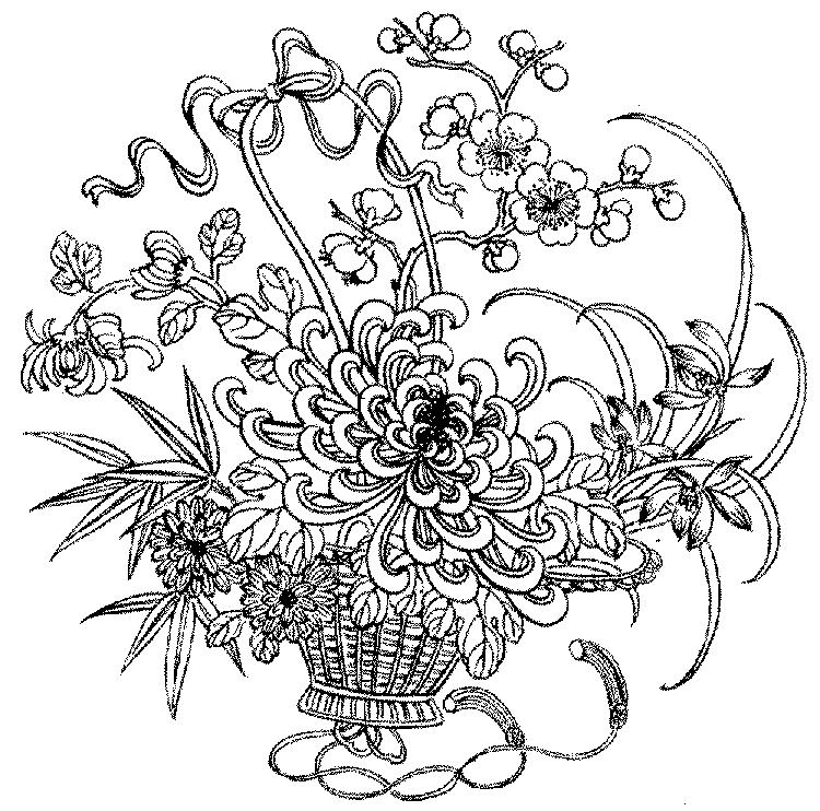 Detailed Floral Coloring Pages