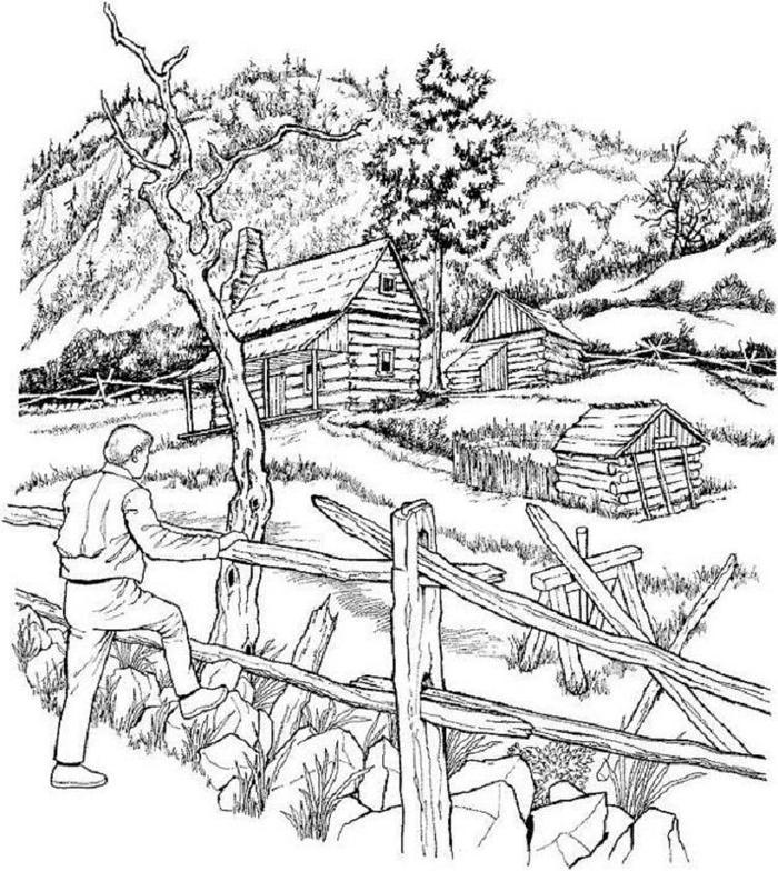 Detailed Landscape Coloring Pages