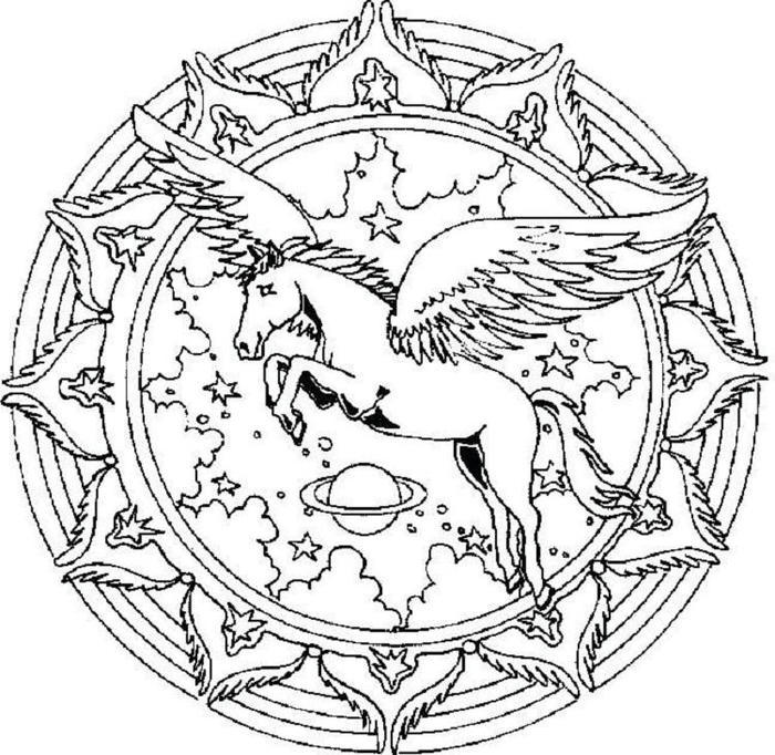 Detailed Unicorn Free Coloring Pages