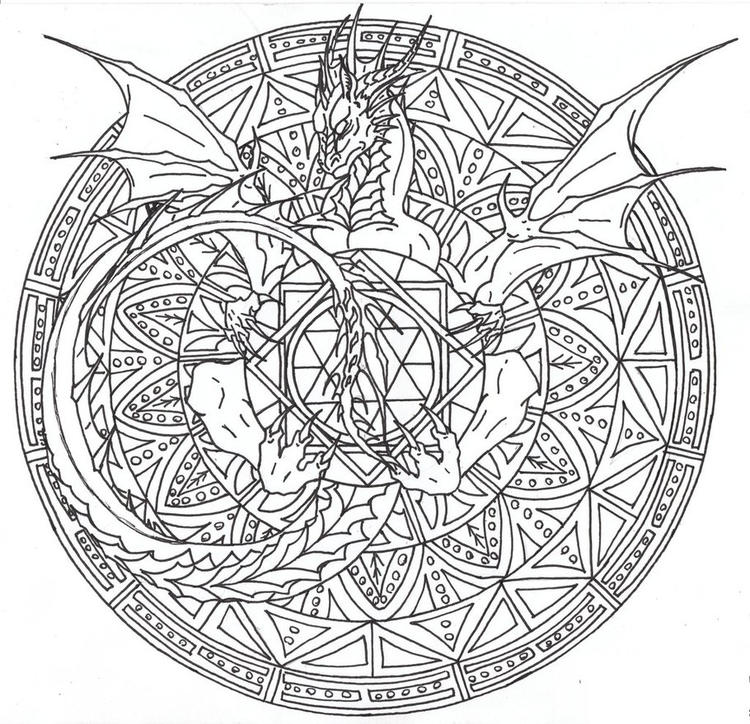 Detailing Dragon Adult Coloring Pages Printable