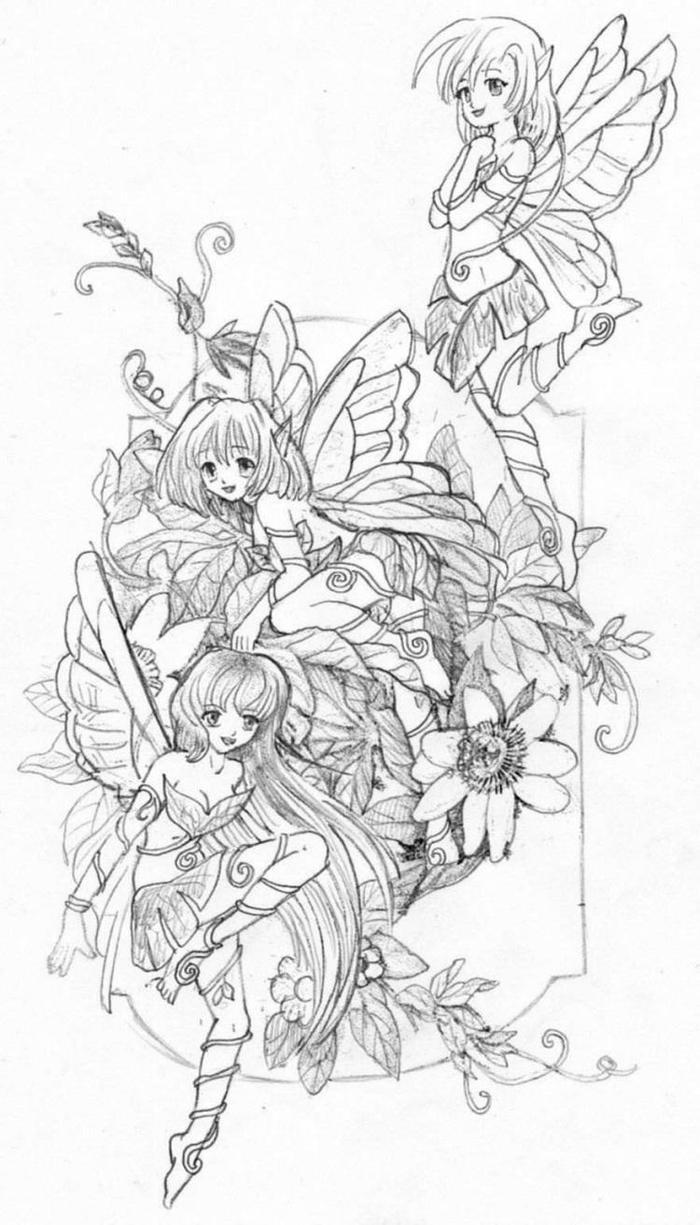 Devianart Gothic Fairies Coloring Pages
