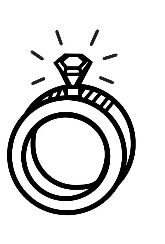 Diamond Wedding Ring Coloring Pages