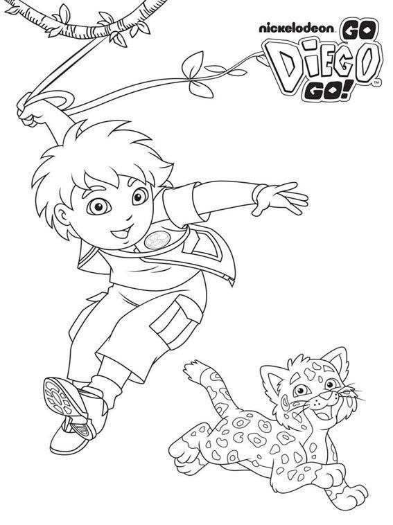 Diego Animal Coloring Pages