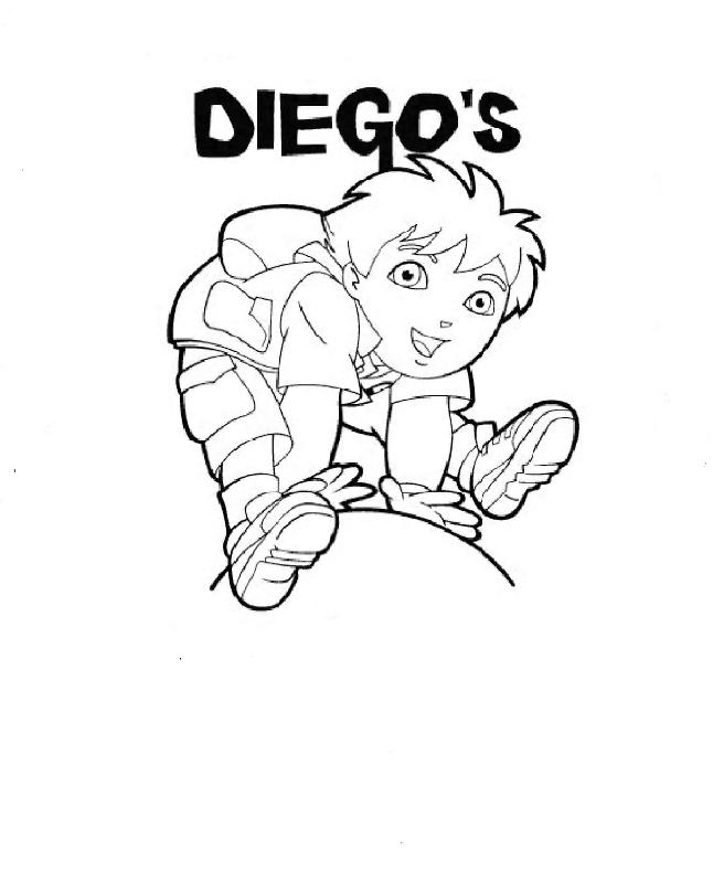 Diego Coloring In Pages